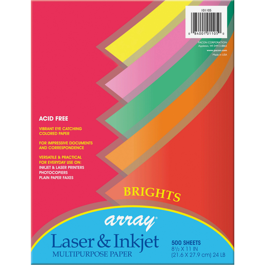 Pacon array brights colored bond paper pac101105 Blue bond paper