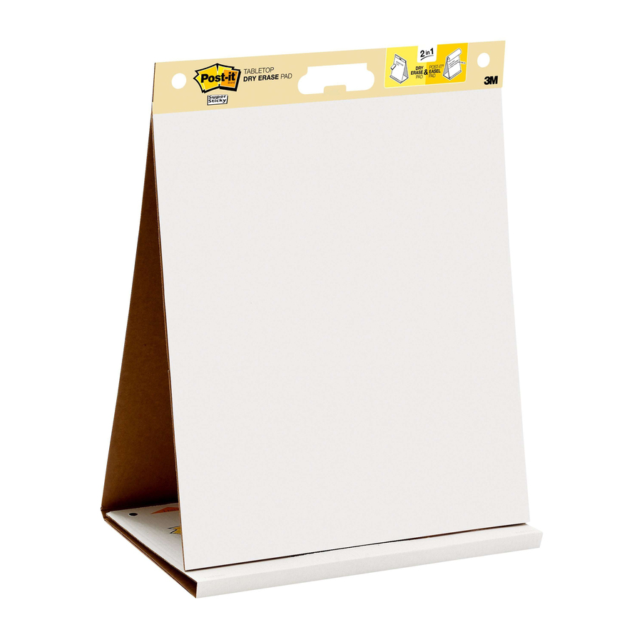 Post It Self Stick Tabletop Easel Pads With Dry Erase 20