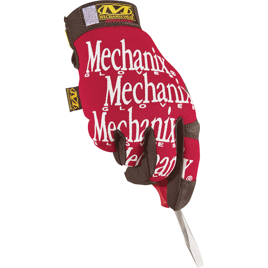 Mechanix Wear Gloves - 10 Size Number - Large Size - Leather - Red - Safety Cuff - 2 / Pair