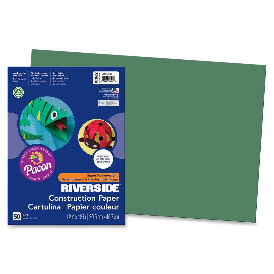 Pack of 100 Pacon Fadeless Acid-Free Designer Art Paper 12 X 18 in Assorted Color