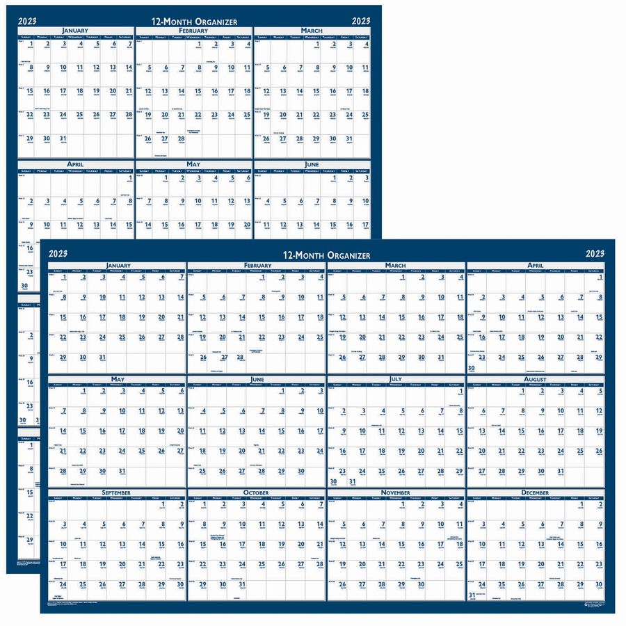 House of Doolittle Recycled Laminated Reversible Planner - Yes - Monthly - 1 Year - January 2020 till December 2020 - 24