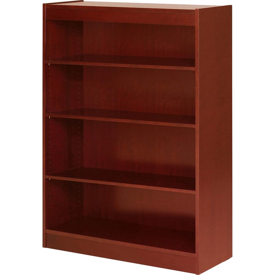 "Lorell Four Shelf Panel Bookcase - 36"" x 12"" x 48"" x 0.8"" - 4"