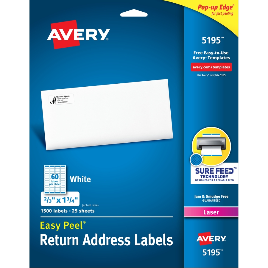 Discount Ave5195 Avery 5195 Avery White Easy Peel Address