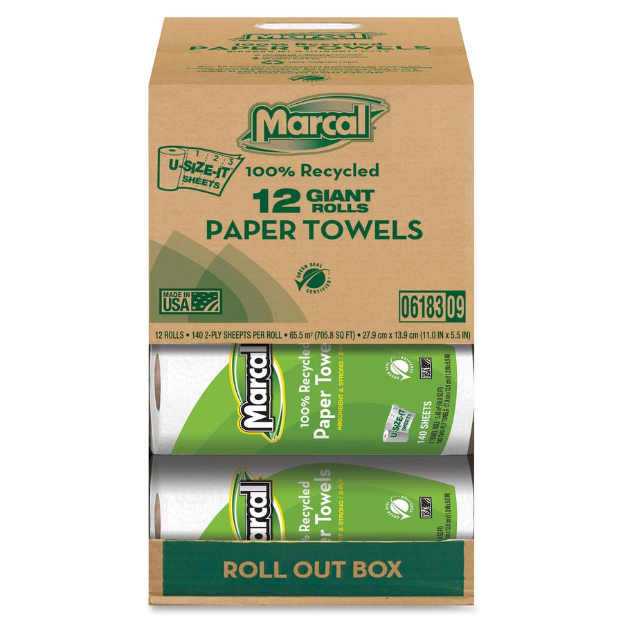 Wholesale Marcal U Size It Sheets Paper Towel Rolls Mrc06183
