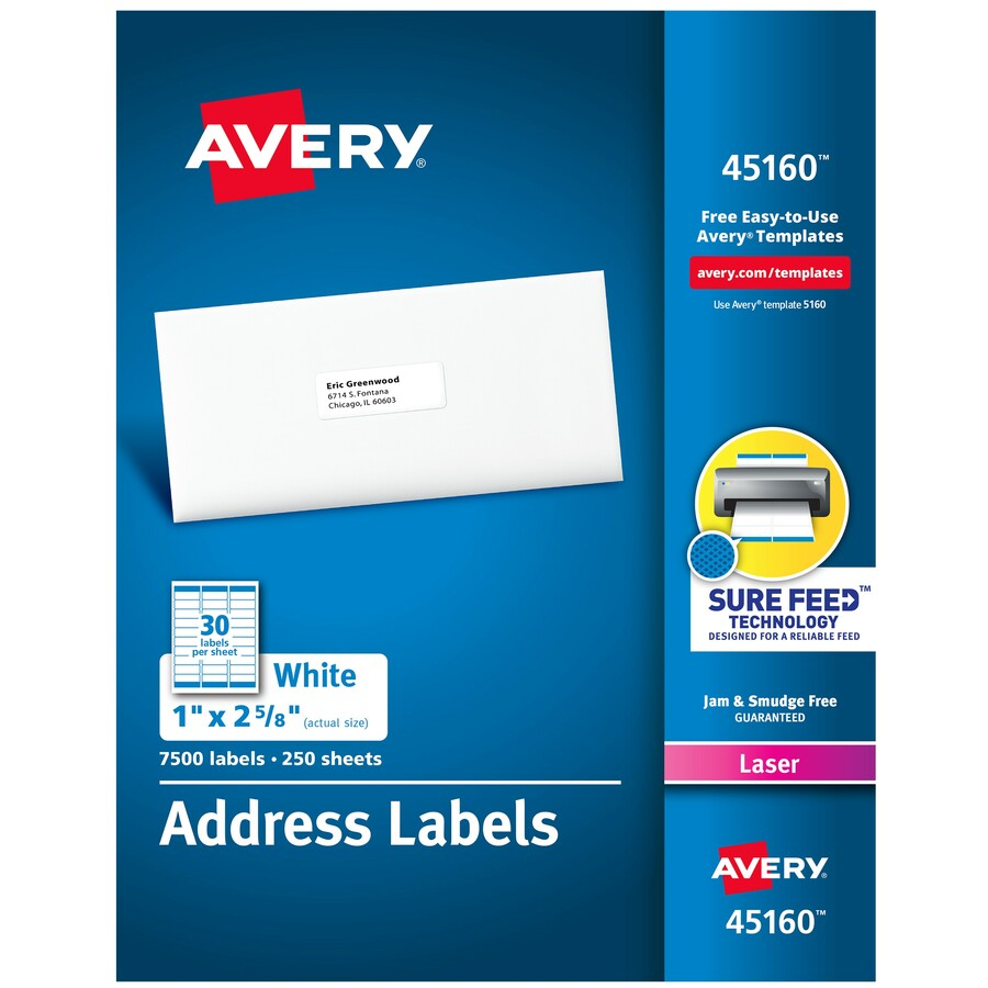 avery white mailing labels permanent adhesive width x 1