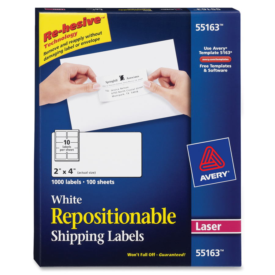 avery repositionable mailing labels servmart