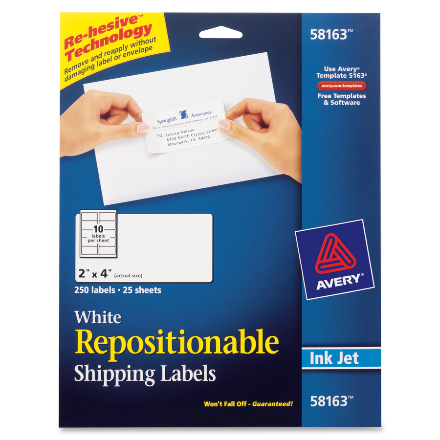 Template for avery 5163 shipping labels 2