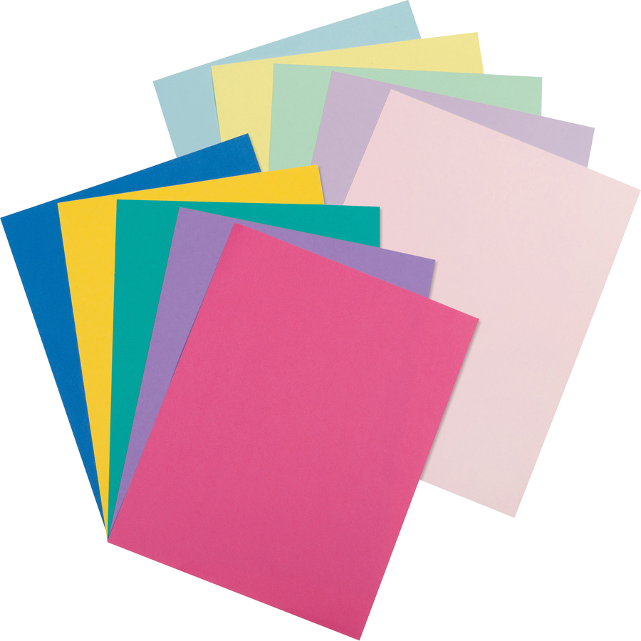Pacon 101195, Pacon Array Pastel/Bright Colors Jumbo Card Stock ...