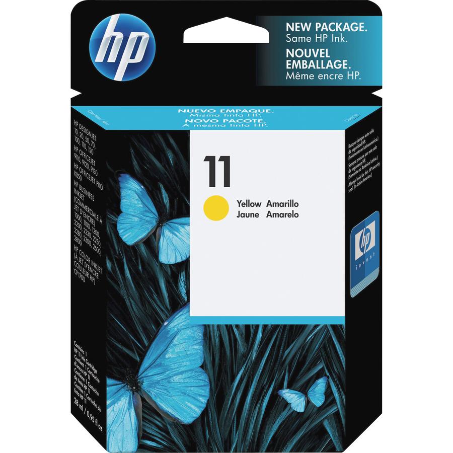 HP 11 Original Ink Cartridge - Single Pack Inkjet - 2550 Pages - Yellow - 1  Each