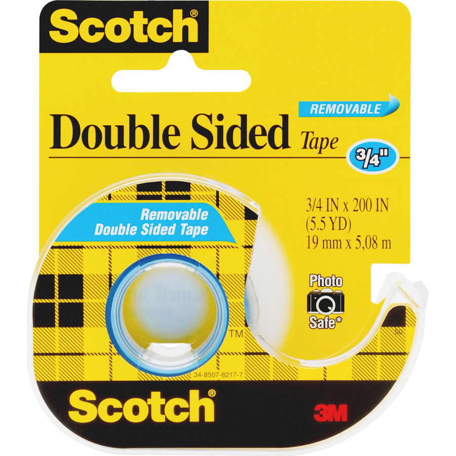"""30 FT of 1//4/"""" Double-Sided Clear Tape"""