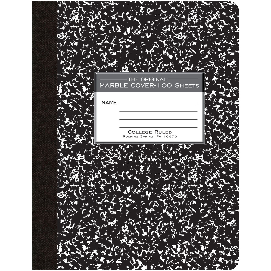 roaring spring 100 sheet college ruled composition book servmart