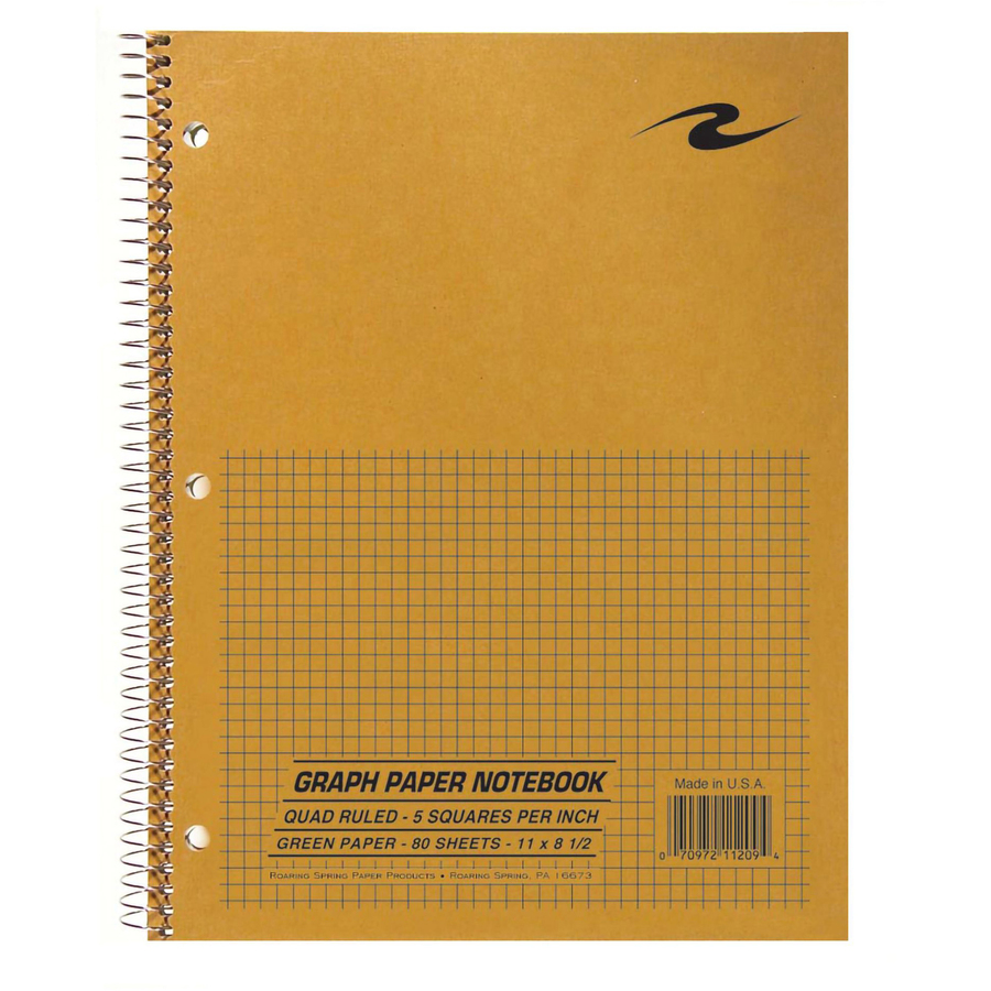 roaring spring 11209 roaring spring three hole punched quadrille notebook roa11209 roa 11209 office supply hut