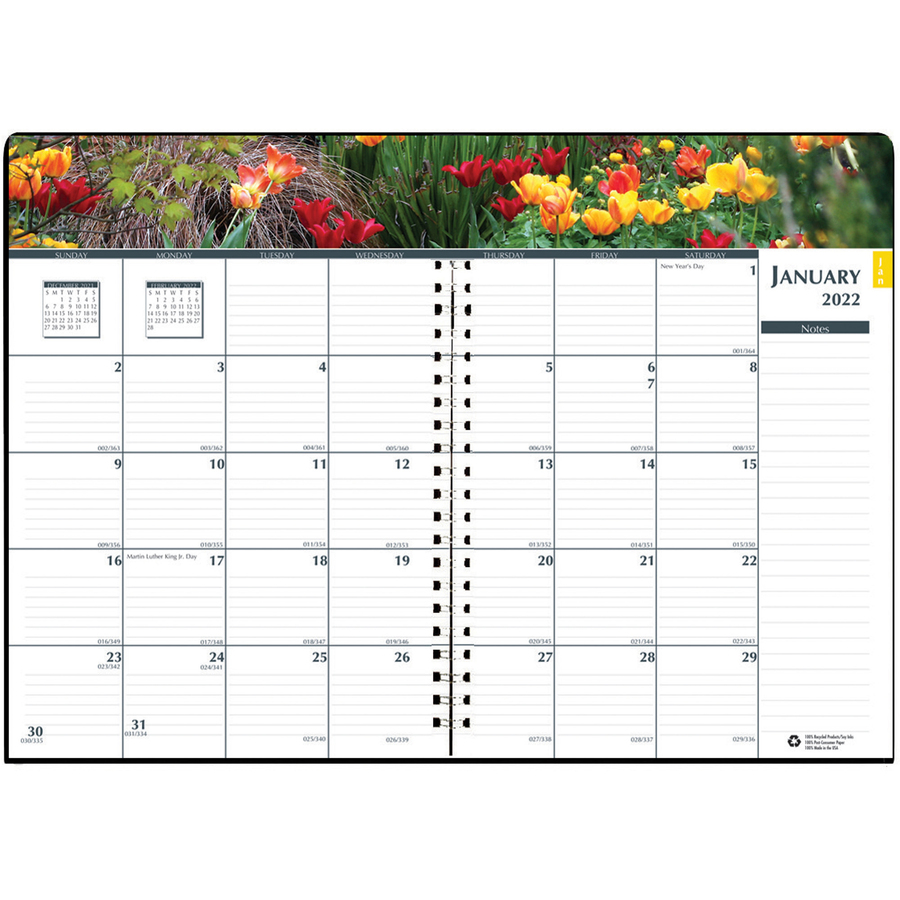 House of Doolittle Earthscapes Gardens Monthly Planner - Yes - Monthly - 1 Year - January 2020 till December 2020 - 1 Month Double Page Layout - 7