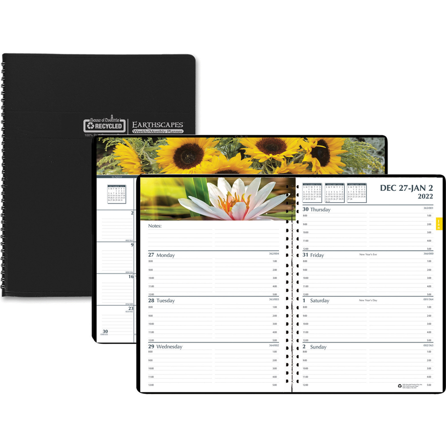 House of Doolittle Earthscapes Gardens Weekly Monthly Planner - Yes - Weekly, Monthly - 1 Year - January 2020 till December 2020 - 8:00 AM to 5:00 PM - 7