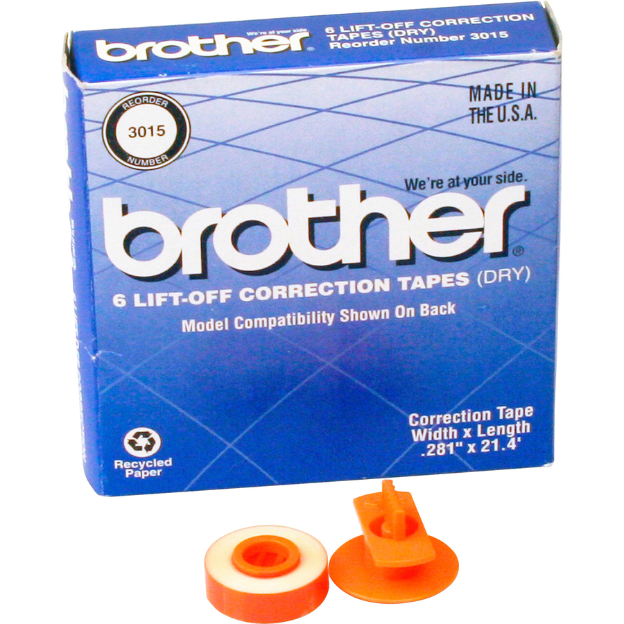 BRT3010 2 Brother 3010 Two Spool Lift-off Correction Tape Pack