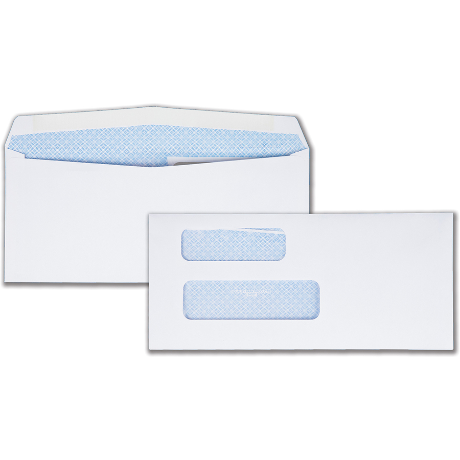 Qua24527 quality park double window envelope zuma for Window envelopes
