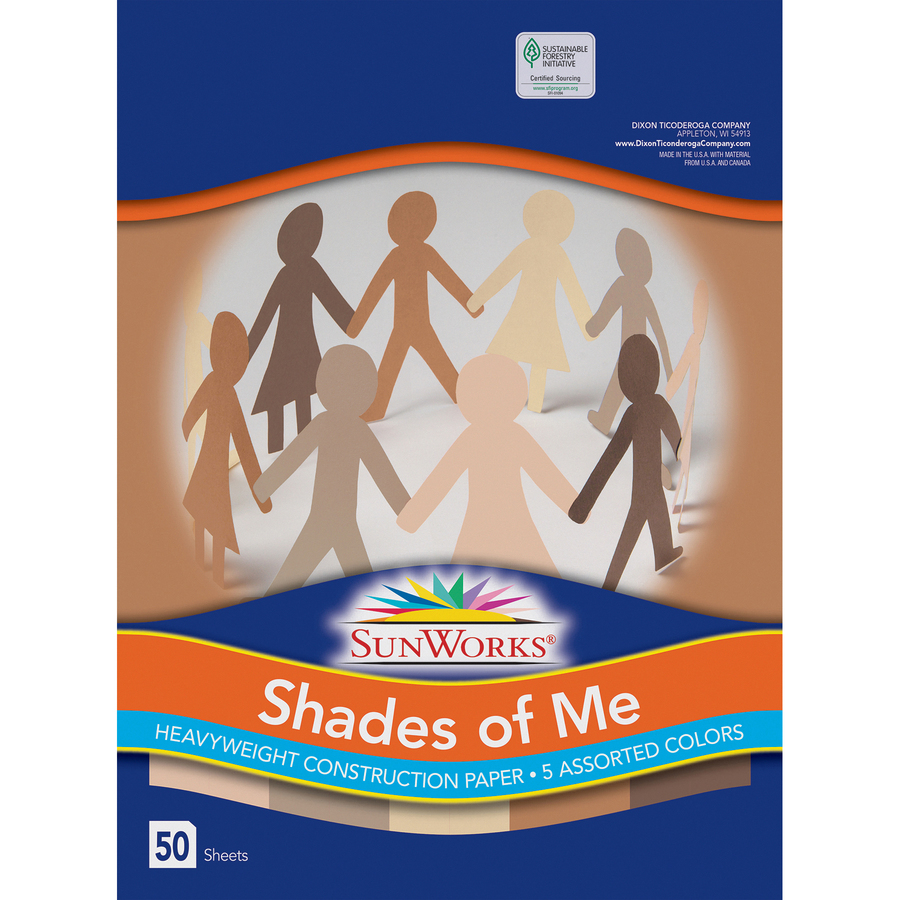 12x18 50 Sheets//Pack Assorted 76 lbs. Pacon Multicultural Construction Paper