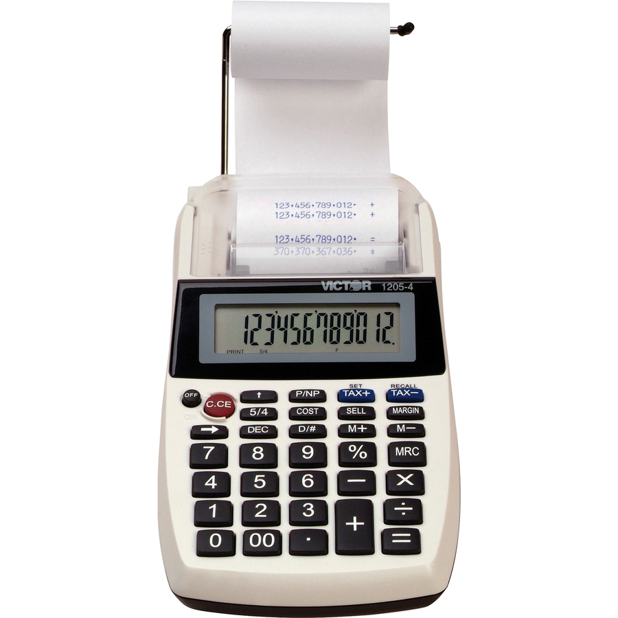 Victor 1205-3 12 Digit Portable Palm//Desktop Commercial Printing Calculator