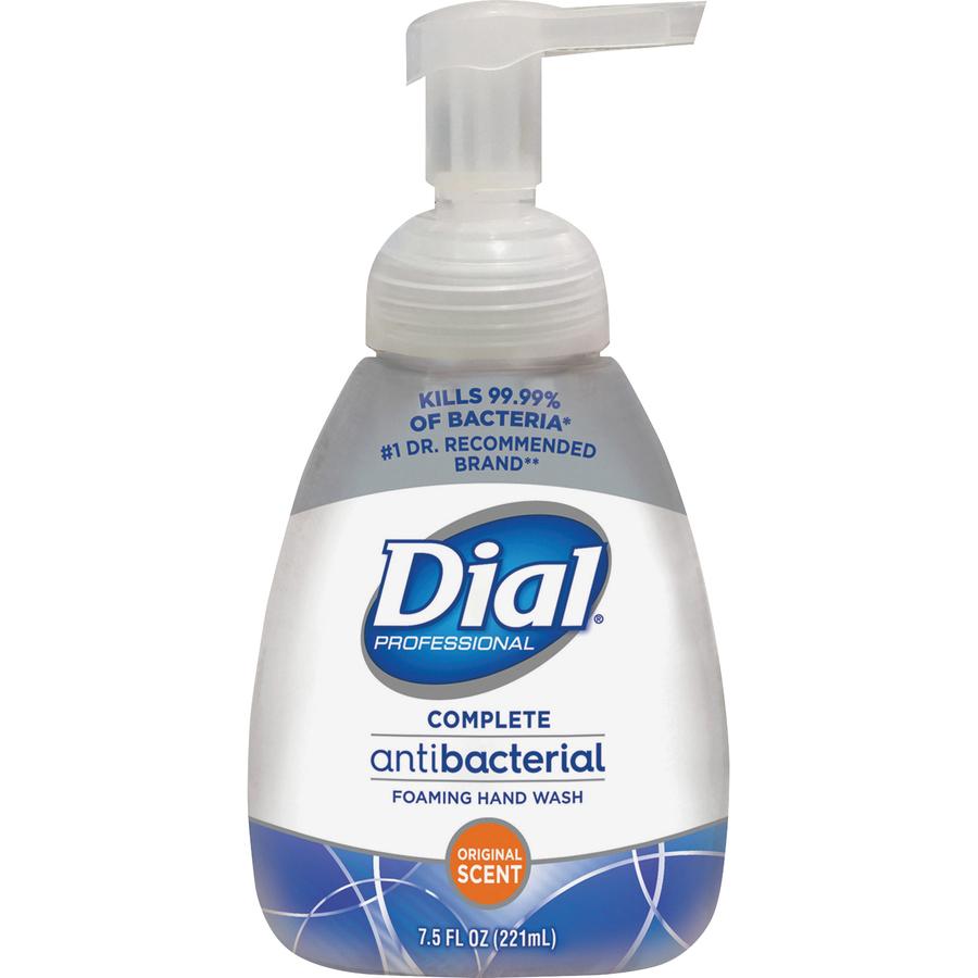 Dial Complete Foaming Hand Soap 7 50 Oz Pump Bottle Dispenser Red 1