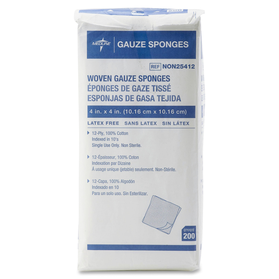 Medline Nonsterile Woven Gauze Sponges - Servmart