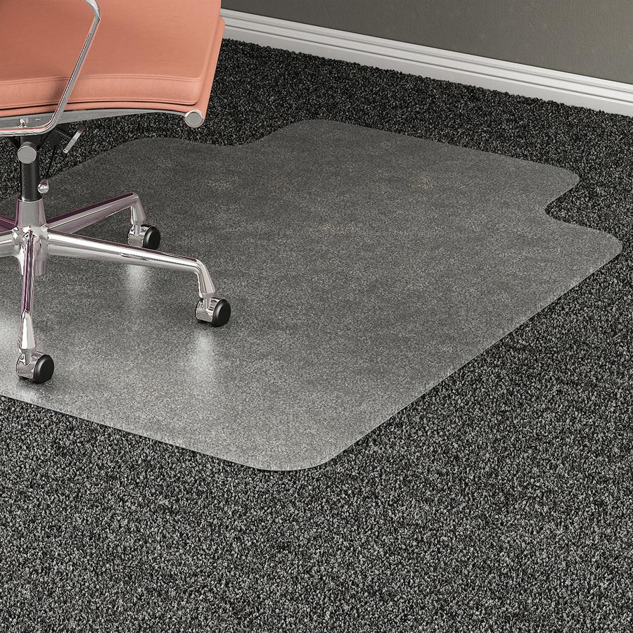 Lorell wide lip medium pile chairmat - Deep pile carpet protector ...
