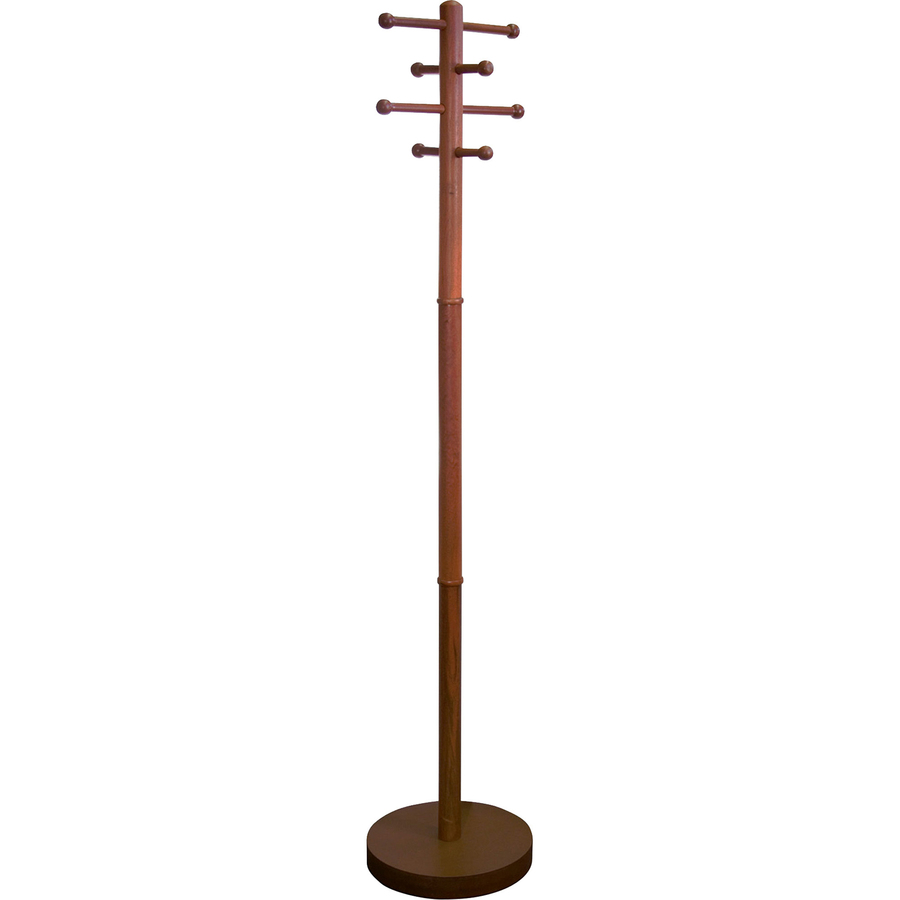 office coat tree. Advantus Wood Coat Tree 8 Pegs - For Garment, Hat Cherry 1 Each Office P
