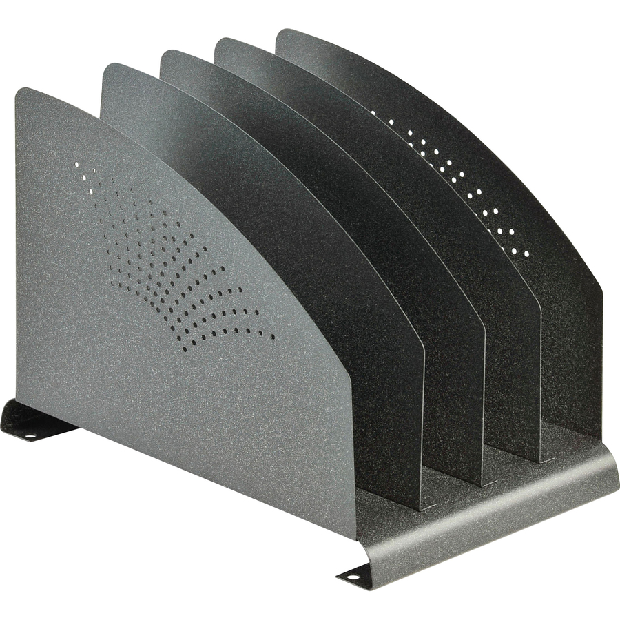 Mmf 4 Compartment Vertical Sorter S 7 5 Height X 8 Width 12 Depth Desktop Recycled Granite Steel 1each
