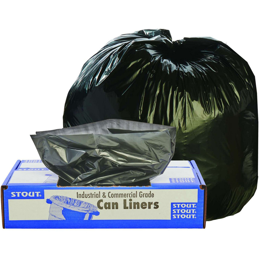 Stout Industrial And Commercial Grade Products Stout Recycled Content Trash  Bags - 30 Gallon - 30 Width X 39 Length X 1 30 Mil (33 Micron) Thickness -