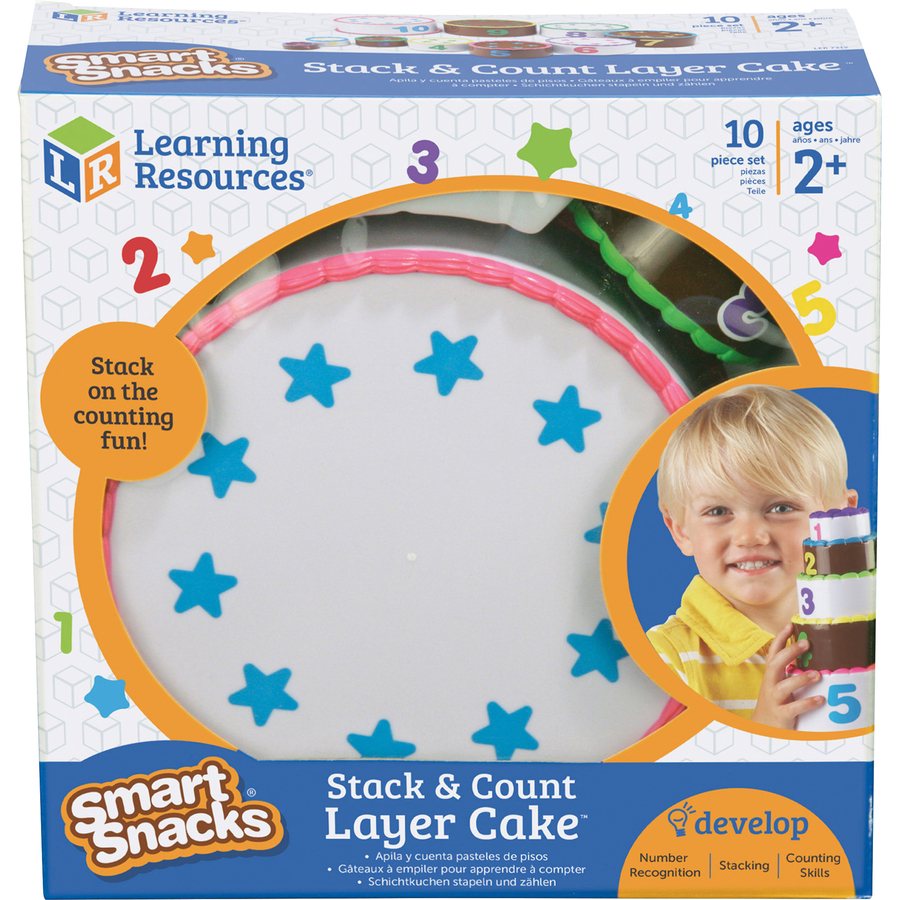 Smart Snacks Stack Count Cake Theme Subject Learning Skill Motor Skills Even Number Odd Recognition Mathematics