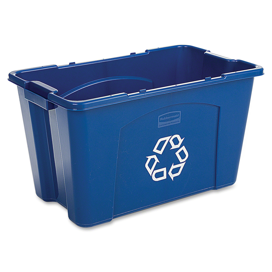 Rubbermaid Commercial Products Rubbermaid Commercial 18-gallon Recycling  Box - 18 Gallon Capacity - Rectangular - 14 8 Height X 26 Width X 16 Depth  -