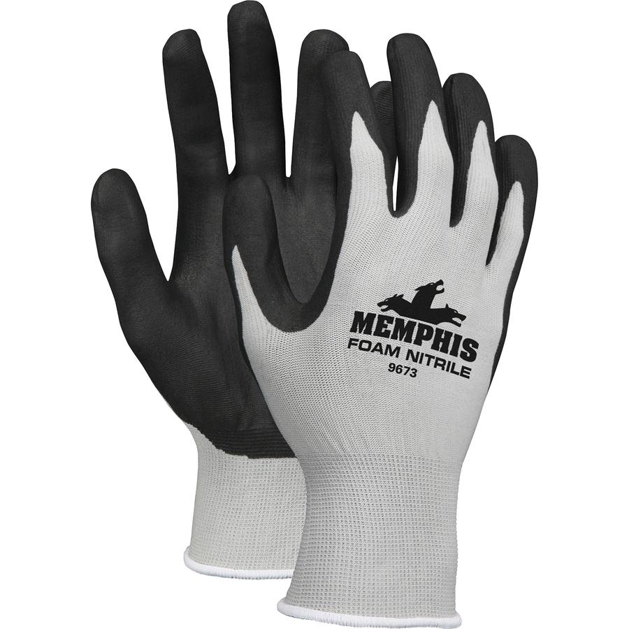 1 Pair Anti-cut Garden Work Gloves Nitrile Dipped Foam  Breathable Gloves