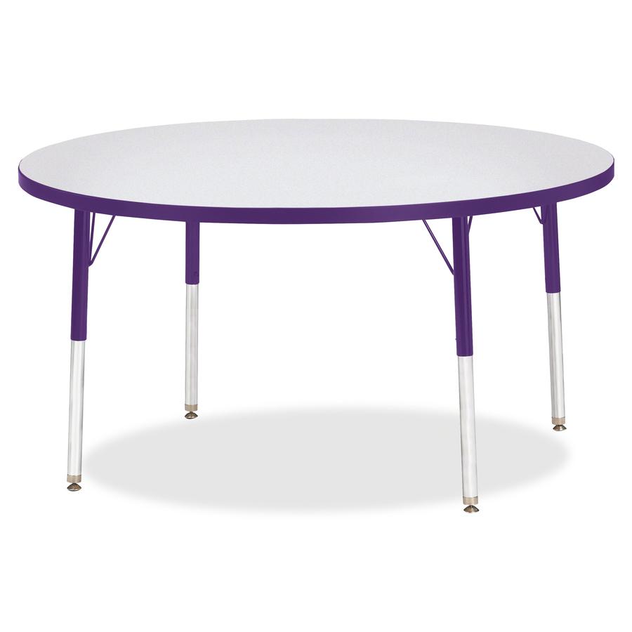 Jonti Craft Inc Berries Height Color Edge Round Table Top Four Leg Base 4 Legs 1 13 Thickness X 48 Diameter