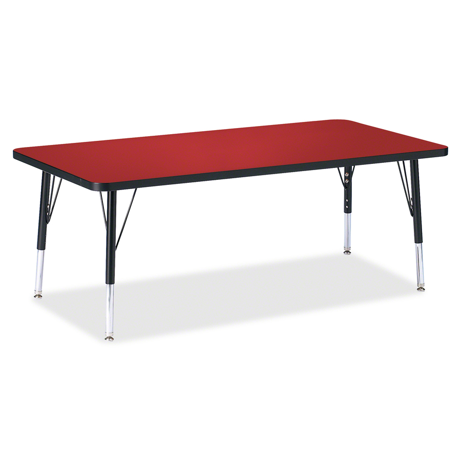 Jonti Craft Inc Berries Toddler Height Color Top Rectangle Table Rectangle Top Four Leg Base 4 Legs 60 Table Top Length X 30 Table Top Width