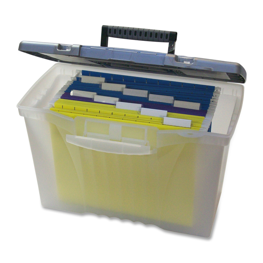 Storex Plastic Portable File Box STX61511U01C. Top Original Top Original  sc 1 st  Office supply hut & STX61511U01C - Storex Plastic Portable File Box - Office Supply Hut