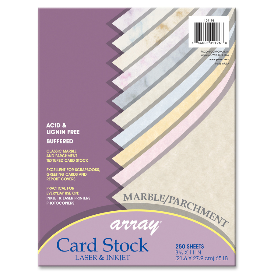 Pacon Laser Inkjet Print Card Stock