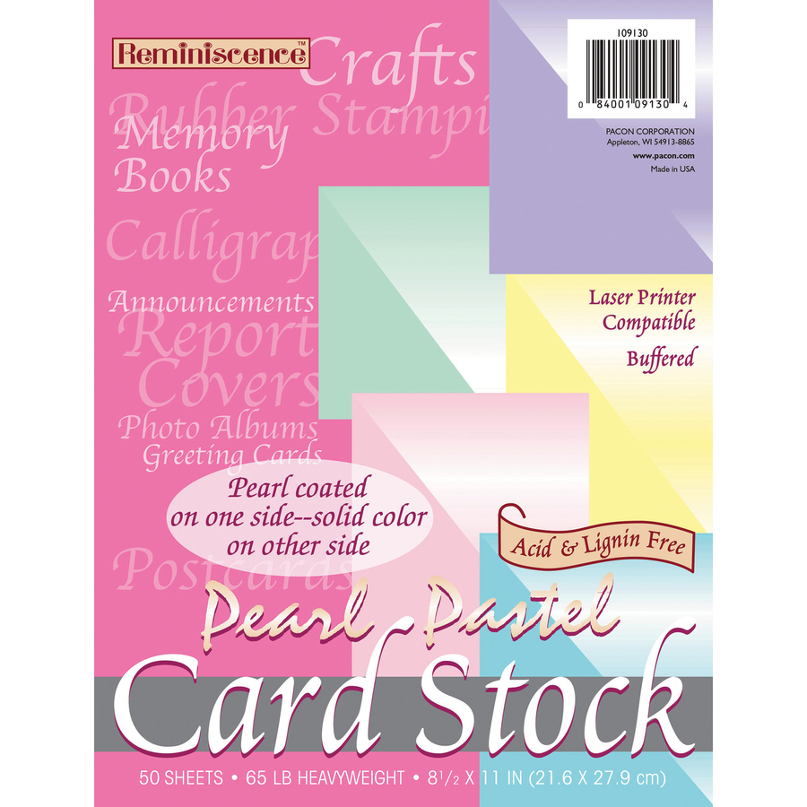 picture relating to Printable Greeting Card Stock identify Pacon Inkjet, Laser Print Card Inventory - Letter - 8 1/2\