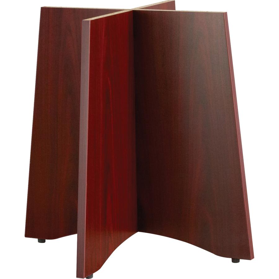 "Lorell Essentials Table Base 29.5"" x 29.5"" x 28.5"" - Material: Wood - Finish: Laminate, Mahogany"