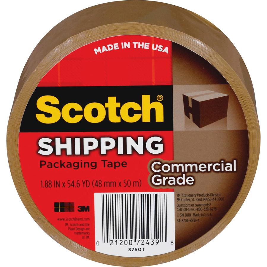 "24 Pk 3M 1.88/"" X 54.6 Yd Tan Carton Package Box Sealing Tape 3710T"