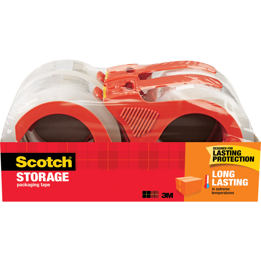 Scotch Long Lasting Storage and Packaging Tape 6 Pack Clear 1.88 In X 54.6 Yd