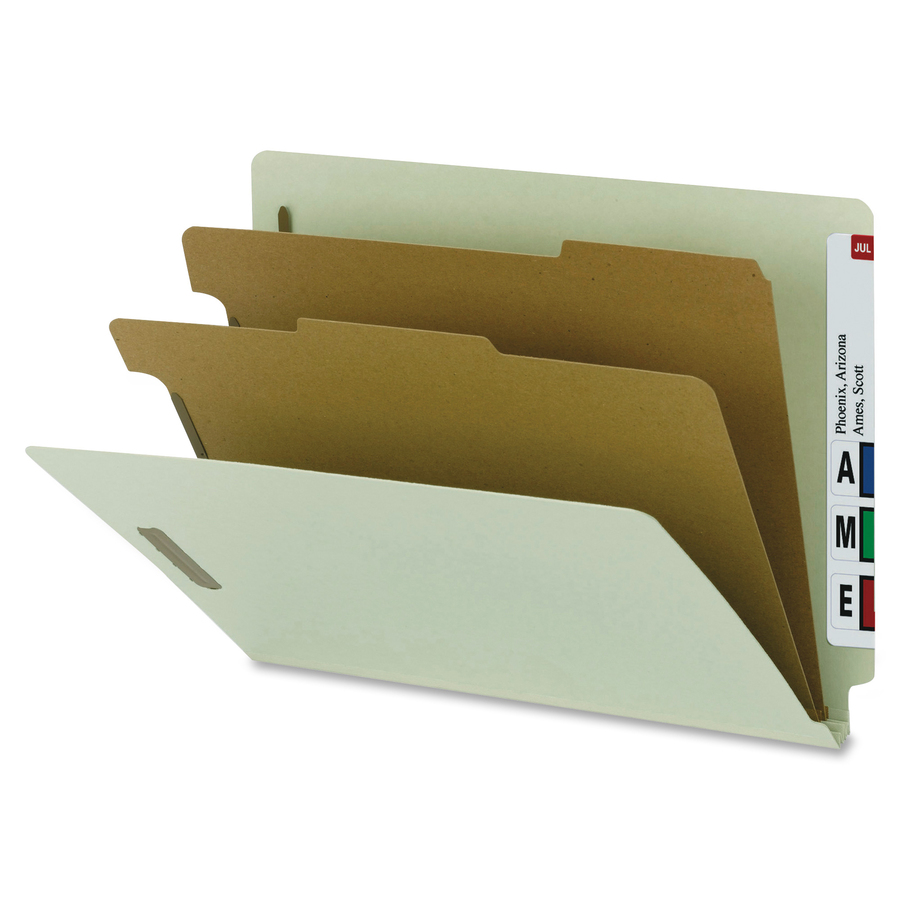 Nature Saver Recycled End Tab Classification Folders
