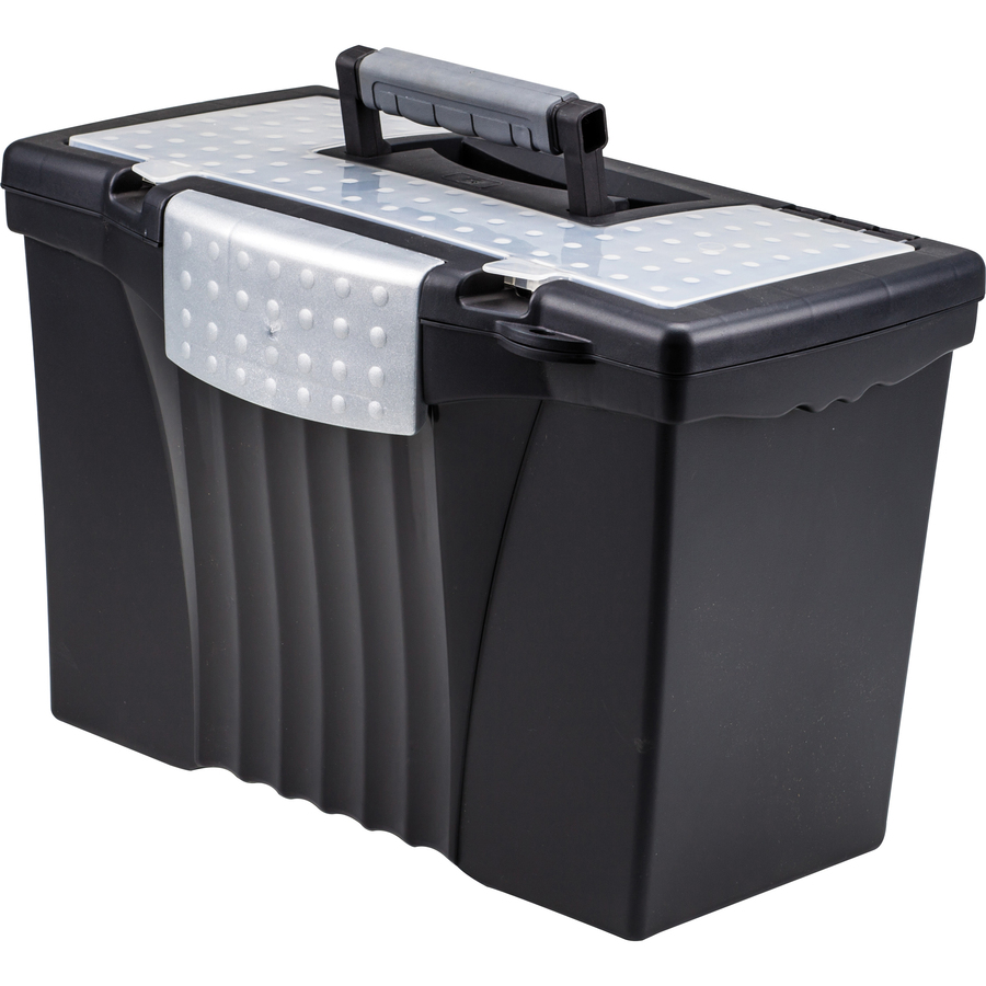 Storex Industries Corporation Storex Portable File Storage Box With Out  Rganizer Lid - External Dimensions: 14 5 Width X 10 5 Depth X 12HEIGHT -  Media