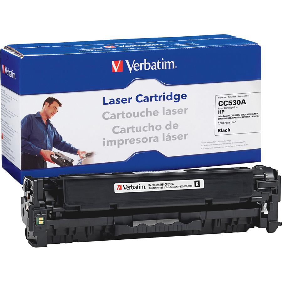 verbatim remanufactured laser toner cartridge alternative for hp cc530a black. Black Bedroom Furniture Sets. Home Design Ideas