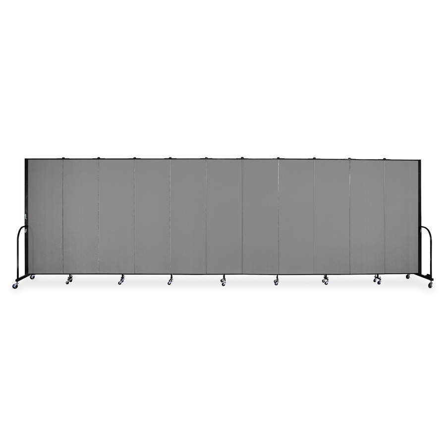 Grey Combined Dimensions 142 W X 72 H STEELAID Room Divider Office Partition Classroom and Dorm Privacy Screen Double Unit