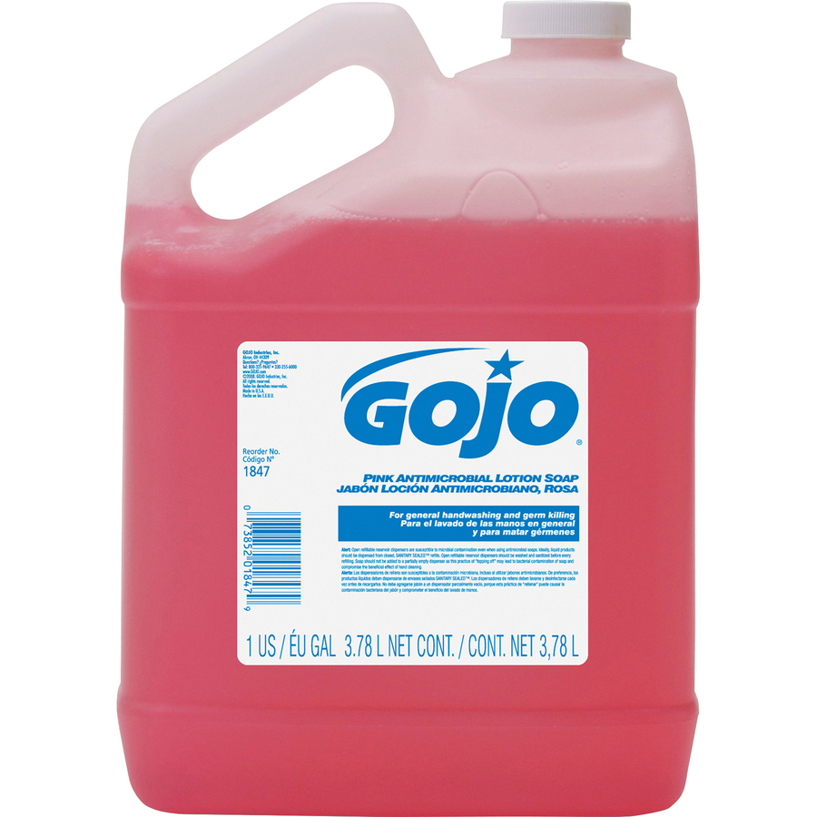Goj184704 Gojo Pink Antimicrobial Lotion Soap Office