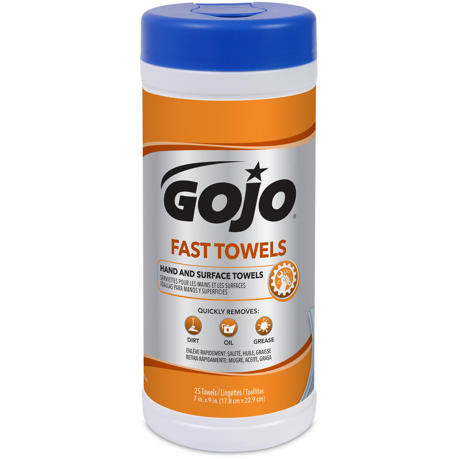gojo fast towels hand surface cleaner servmart