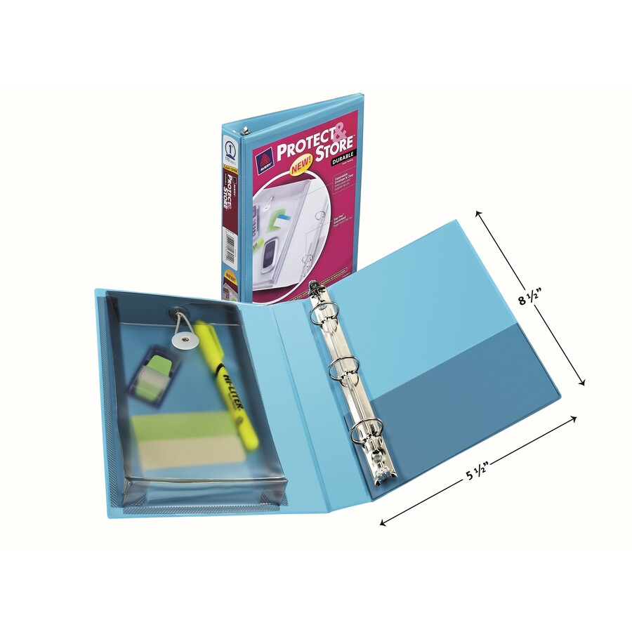 avery protect store 5 1 2 x 8 1 2 mini durable view binders