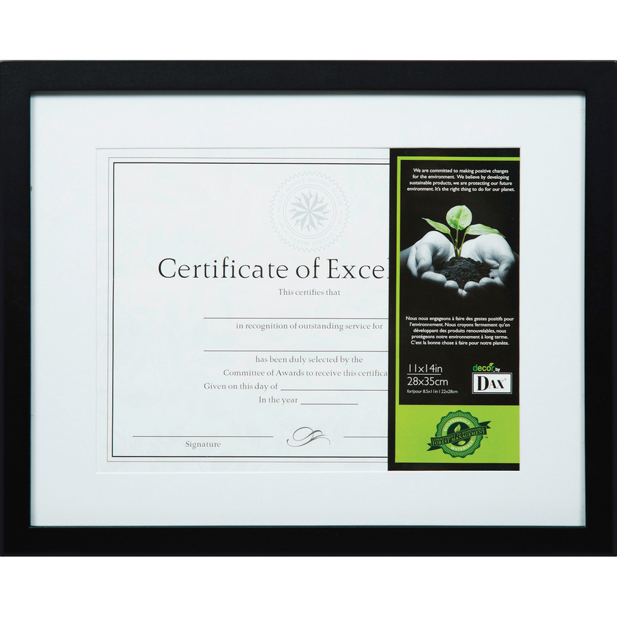 DAX FSC Certified Black Wooden Frame - Direct Office Buys