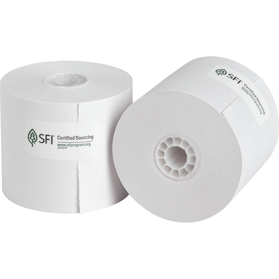 Business source 1 ply 126 39 adding machine paper rolls for Blue bond paper