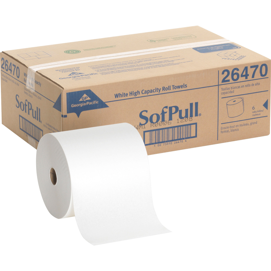 Wholesale SofPull Hardwound White Roll Paper Towels GPC26470