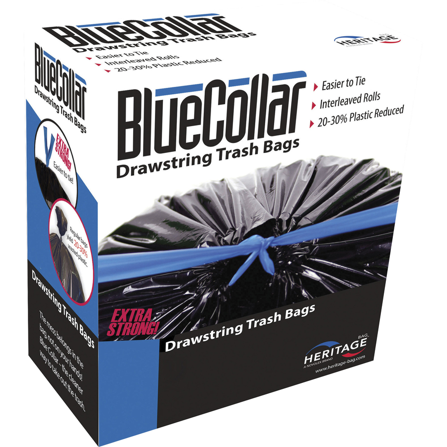 BlueCollar Super Tough 30 Gal Trash Bags - 30 gal - 30